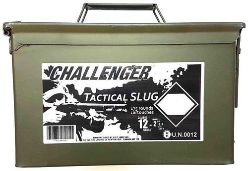 "Challenger Tactical Target Slug Shotgun Ammo - 12ga, 2-3/4"", Slug, 1oz, Low Recoil, 175rds Ammo Can?>"