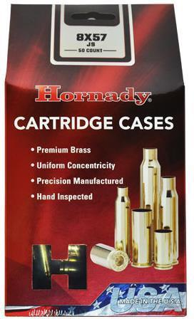 Hornady Cartridge Cases - 8x57 JS Unprimed, Brass, 50 pc?>