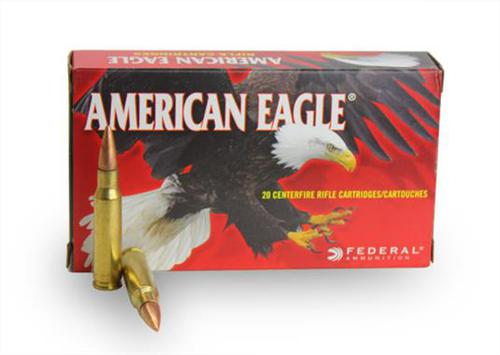 Federal American Eagle Rifle Ammo - 223 Rem, 55Gr, Full Metal Jacket Boat-Tail, 500rds Case, 3240fps?>
