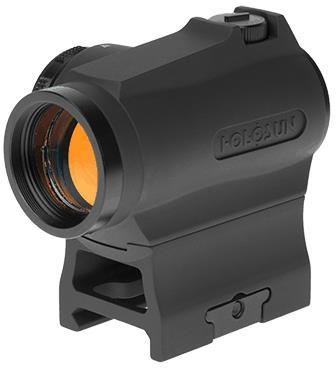 Holosun Reflex Sights - HS403R Micro Reflex Sight, Black, 2 MOA GOLD Dot,10DL & 2NV Brightness Settings, Rotary Switch, Multi-Layer Coating, Waterproof IP67, w/Lower 1/3 AR Height Mount & Low Base, CR2032, 100,000 hrs?>