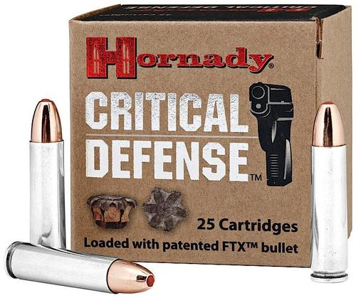 Hornady Critical Defense Rifle Ammo - 30 M1 Carbine, 110Gr, FTX Critical Defense, 25rds Box?>