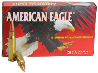 Federal American Eagle Rifle Ammo - 223 Rem, 55Gr, Full Metal Jacket Boat-Tail, 20rds Box, 3240fps?>
