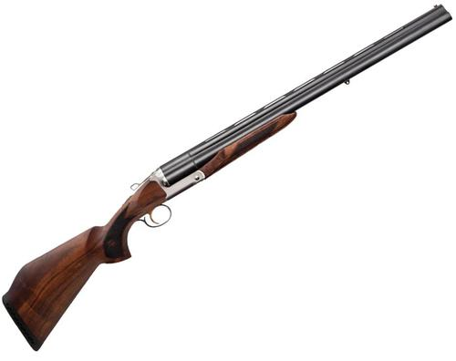 "Charles Daly Triple Crown, Triple Barrel Shotgun - 12Ga, 3"", 28"", Blued, Oiled Checkered Walnut, 3rds, Fixed Fluorescent Front Sight, Rem Choke Thread MC-5 (SK,IC,M,IM,F)?>"