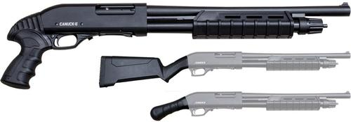 "Canuck Enforcer Pump Action Shotgun - 12Ga, 3"", 17"", Blued, Aluminum Receiver, Raptor Grip, Tactical Buttstock, 5+1rds?>"