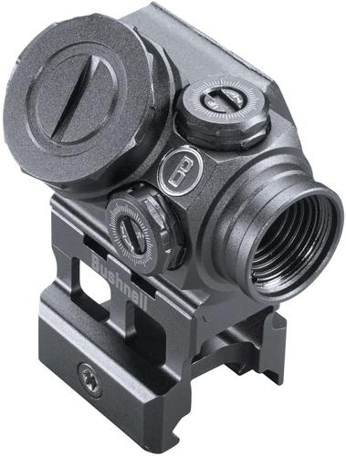 Bushnell Tactical Optics, Lil P Prism Sight - 1x11mm, Matte, Illuminated Prism Reticle, Adjustable Brightness, 1 MOA Click Value, Multi-Coated, Waterproof/Fogproof/Shockproof, CR2032?>