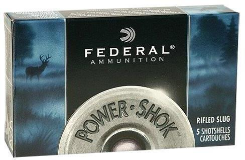 "Federal Power-Shok Shotgun Ammo - 12Ga, 2-3/4"", Max DE, 1oz, Rifled Slug HP, 50rds Brick?>"