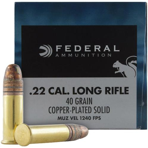 Federal Game-Shok Rimfire Ammo - 22 LR, 40Gr, Copper Plated Solid, 100rds Box, 1240fps?>