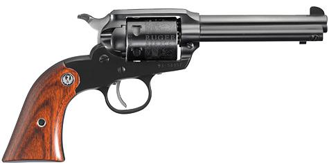 "Ruger New Bearcat Rimfire Single Action Revolver - 22 LR, 4.2"", Blued, Alloy Steel, Hardwood Grips, 6rds, Blade Front & Integral Notch Rear Sights?>"