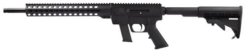 "Just Right Carbines (JR Carbine) Glock Mag, Key Mod Semi-Auto Carbine - 9mm, 18.6"", Black, 13"", Key Mod Handguard, 6061T-6 Aluminum w/Black Hardcoat Anodizing Receiver, Telescoping 6-Position Collapsible M-4 Style Buttstock, Glock Mag, 10rds?>"