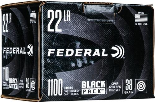 Federal Black Pack Rimfire Rifle Ammo - 22 LR, 36 gr, CPHP, 1260fps, 1100rd Brick?>