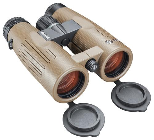 Bushnell Binoculars, Forge - 10x42mm, PC-3 Phase Coated Roof Prism, Waterproof/Fogproof, EXO Barrier, ED Prime Glass, Ultra Wide Band Lens Coating, Brown?>
