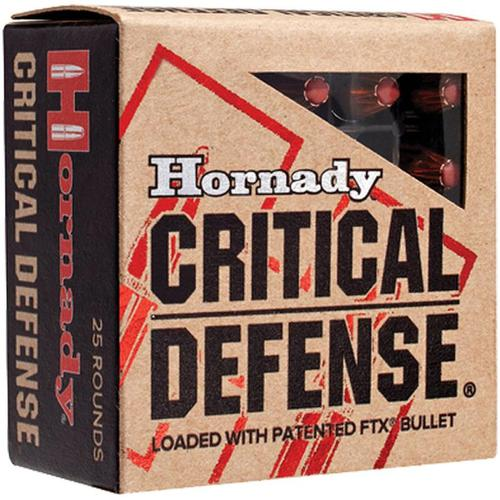 Hornady Critical Defense Handgun Ammo - 40 S&W, 165Gr, FTX, 25rds Box?>