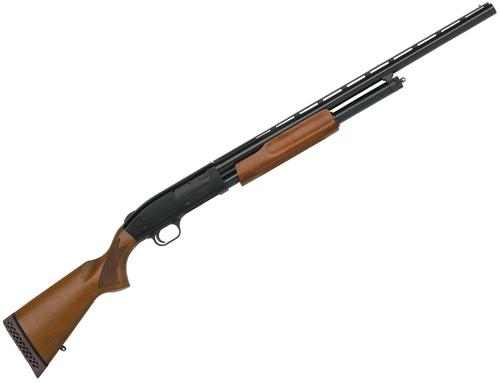 "Mossberg 500 Crown Grade Bantam Pump Action Shotgun - 12Ga, 3"", 24"", Vented Rib, Blued, Wood Stock & Forend, 5rds, Bead Sight, Accu-Set Chokes (F,M,IC)?>"