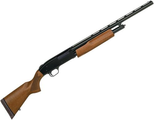 "Mossberg 505 Youth Pump Action Shotgun - 20ga, 3"", 20"", Vented Rib, Blued, Wood Stock, 4rds, Dual Bead Sights, Accu-Set Chokes (F,M,IC)?>"