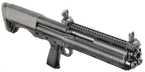 "Kel-Tec KSG Pump Action Shotgun - 12Ga, 3"", 18-1/2"", Parkerized, Black Synthetic Stock, 12rds?>"