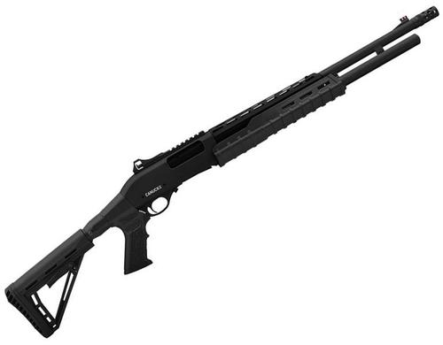 "Canuck Sentry Pump Action Shotgun - 12ga, 3"", 24"", Green Receiver, Black Synthetic Adjustable Pistol Grip Stock, Fiber Optic Front Sight, Optic Rail, Heat Sheild, 8+1, Mobil Choke Flush (C,M,F) + Breacher Choke?>"