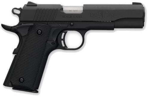 "Browning 1911-380 Black Label Single Action Semi-Auto Pistol - 380 ACP, 4-1/4"", Matte Black Steel Slide, Matte Black Composite Frame, Black Composite Grip Panels, 8rds, Combat Front & Rear Sights, Extended Ambi Safety, Skeletonized Hammer?>"