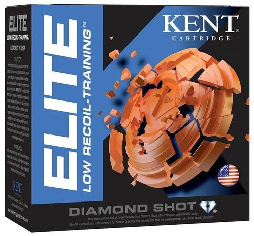 "Kent Elite Low Recoil Training Target Shotgun Ammo - 12Ga, 2-1/2"", 3/4oz, #8, 250rds Case, 1200fps?>"