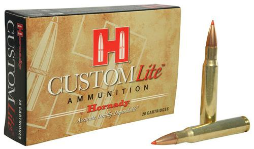 Hornady Custom Lite Rifle Ammo - 30-06 Sprg, 125Gr, SST Custom Lite, Reduced Recoil, 20rds Box?>