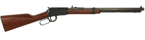 "Henry Octagon Frontier Model Rimfire Lever Action Rifle - 22 S/L/LR, 20"", Blued, American Walnut Stock, 22rds, Reversible White Diamond Insert & Brass Beaded Front & Marbles Fully Adjustable Semi-Buckhorn Rear Sights?>"