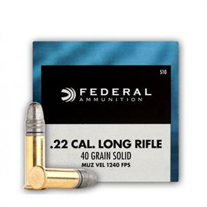 Federal Champion Rimfire Ammo - High Velocity, 22 LR, 40Gr, Solid, 500rds Brick, 1240fps?>
