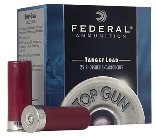 "Federal Top Gun Target Load Shotgun Ammo - 12Ga, 2-3/4"", 7/8oz, #8, 250rds Case, 1200fps?>"