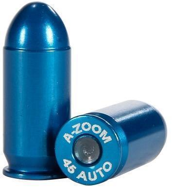 A-Zoom Precision Metal Blue Snap Caps, Pistol - 45 Auto, 10/Pack?>