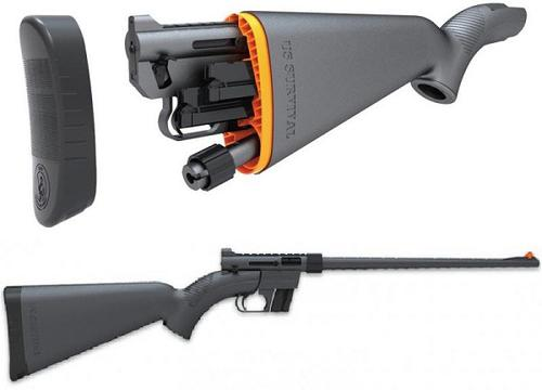 "Henry US Survival AR-7 Rimfire Semi-Auto Rifle - 22 LR, 16.5"", Teflon Coated Black, ABS Plastic Stock, 2x8rds?>"