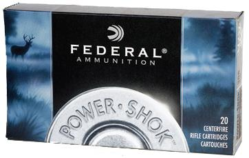 Federal Power-Shok Rifle Ammo - 308 Win, 150Gr, Soft Point, 20rds Box, 2820fps?>