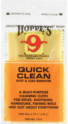 "Hoppe's No.9 Cleaning Accessories, Quick Clean Rust & Lead Remover Cloth - 12-1/2""x8-1/2""?>"