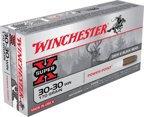 Super-X Power-Point .30-30 WIN cal Ammunition - 170 gr- 20/Box?>