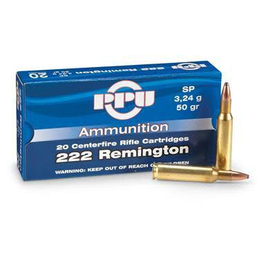 PPU PPU .222 Rem 50 Grain SP 20 Round Box?>