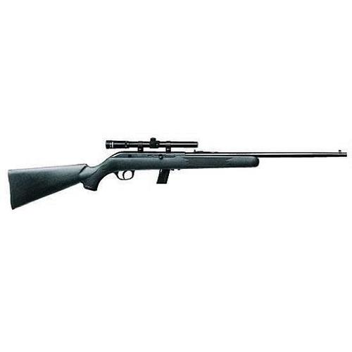 "Savage Model 64FXP Semi Automatic Rifle .22 Long Rifle 20.5"" Barrel 10 Rounds Black Synthetic Stock Blued Finish?>"