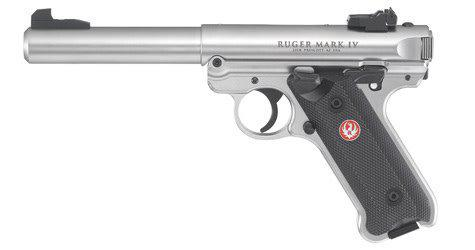 "Ruger Ruger Mark IV Hunter Semi Auto Pistol 22 LR 6.88"" 10rd S/S Fluted Target, Wood grp?>"
