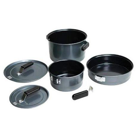 Coleman 16423 Family Cook 5 Piece Set - 10 inch Frying Pan, 6?>