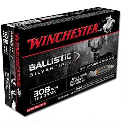 WINCHESTER Winchester Silvertip .308 Win Ammunition 20 Rounds, BST, 168 Grains?>