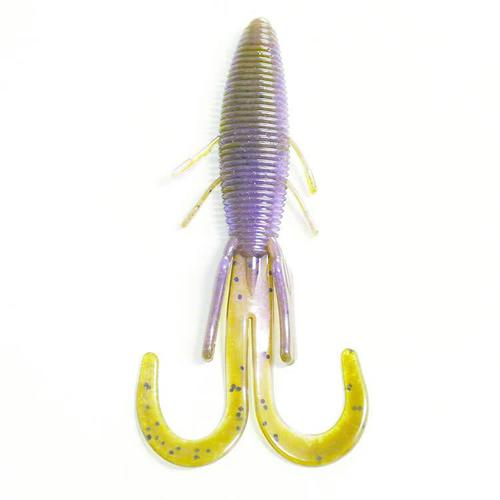 "Missile Baits MISSILE BAITS BABY D STROYER 5"" GREEN PUMPKIN , Purple Pearl Swirl 10PK.?>"