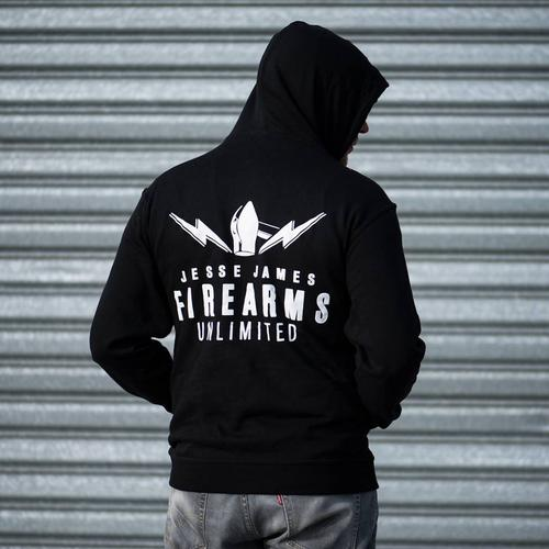 JJFU JJFU LOGO XXL size Hoody Black Jess James Firearm Unlimited XXL?>