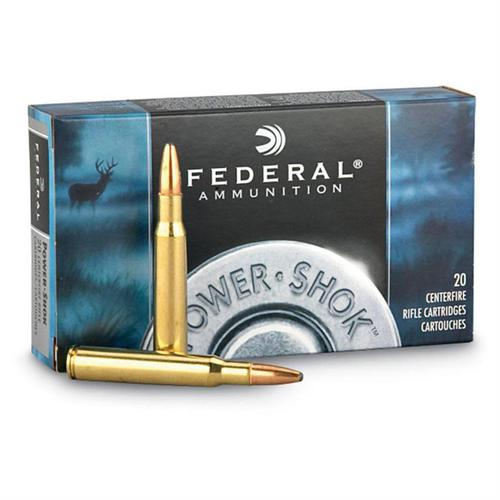 Federal  Power-Shok Rifle Ammo 300 WSM, SP, 180 Grains, 2980 fps, 20, Boxed?>