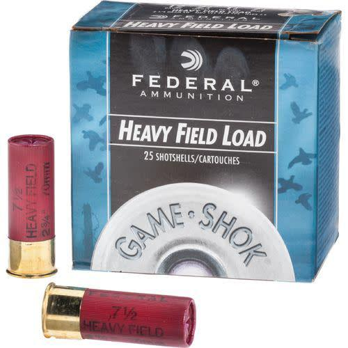 Federal, Game Shok, 12 Gauge, 2.75″, 1 1/8 OZ, #4 Lead Shot (25 Rounds)?>