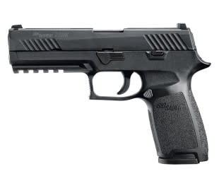 Sig Sauer P320 Full Sz Semi Auto Pistol 45 ACP, 4.7 in Poly Grp, 10+1 Rnd, Full Sz Blk Frame, Striker Fired Trgr?>