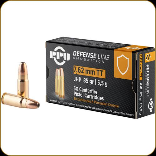 PPU DEFENSE LINE 7.62MM TOKAREV JHP 85GR?>