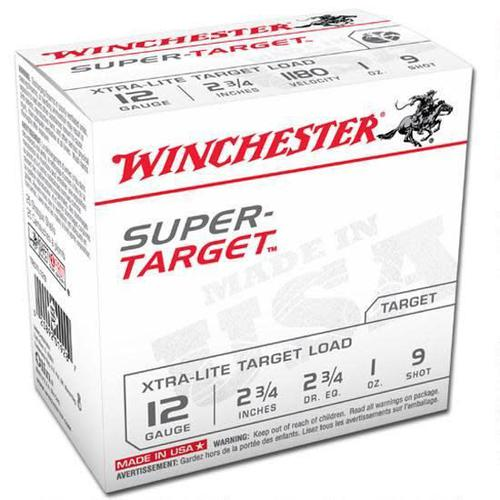 "Winchester Super Target 12 Ga 2.75"" #9 Lead 1 oz - Can of 250 Rounds?>"