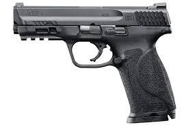 Smith & Wesson M&P M2.0 Semi-Auto Pistol, 4.25'' Bbl Black, Polymer Grip, 10+1 Rnd, 2 Mags, White Two Dot Rear Sight, Striker Fire 40 S&W?>