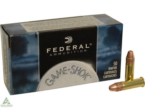 Federal Federal Game-Shok Ammunition 22 Long Rifle Hyper Velocity 31 Grain Plated Lead Hollow Point 50rd single?>
