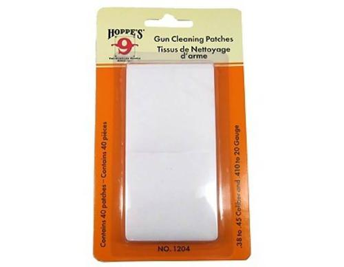 Hoppes Hoppe's Gun Cleaning Patches .38-.45 Caliber/.410 Bore-20 Gauge 40 Pack?>
