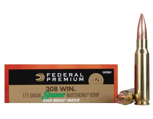 Federal Federal Gold Medal Ammo .308 Win. 175 Gr. 20rd. Sierra MatchKing Hollow Point 2,600 FPS?>
