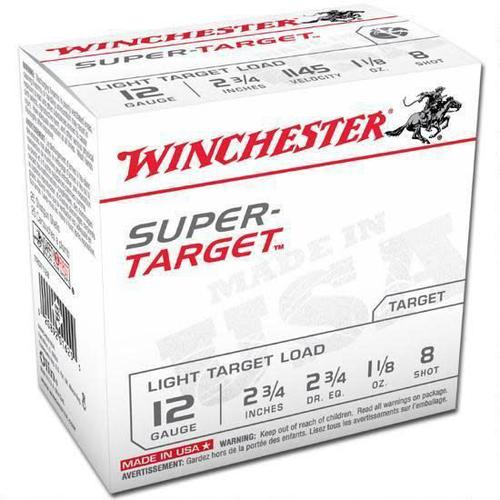 "Winchester TRGT128 Super-Target Trap Load 12 GA, 2-3/4"",  1-1/8 oz, 2-3/4 dr / 25 rounds?>"