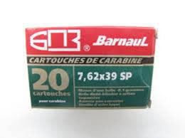 Barnaul Ammo 7.62x39mm Barnaul SP 125 Grain 20 Round Box Steel Case non-corrosive?>
