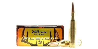 Federal Fusion 243 WIN 95 Gr, 2980 fps, 20/box?>